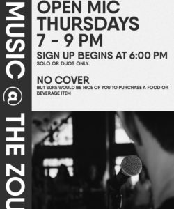 Thursday Open Mic w/ guest host Sam Corbin