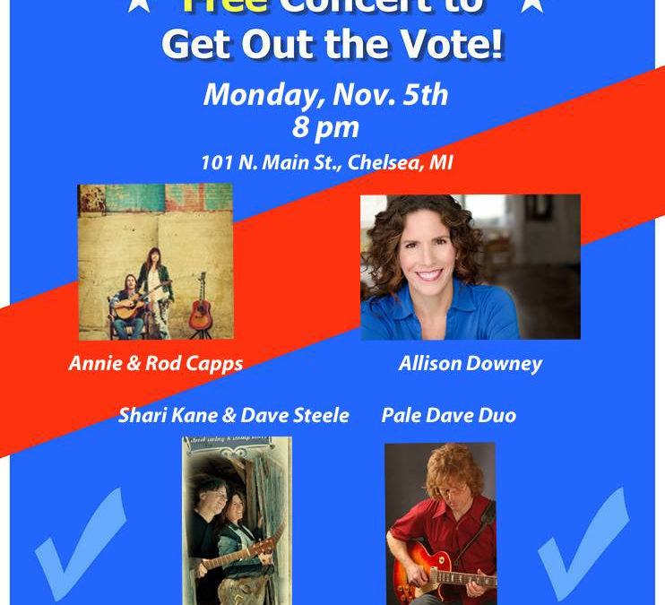 Free Concert to Get Out The Vote!
