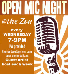 Wednesday Open Mic:  guest host Judy Banker w/ Bill Edwards